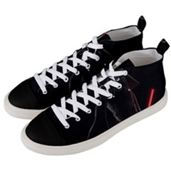Darth Vader Cat Men s Mid Top Canvas Sneakers by Valentinaart
