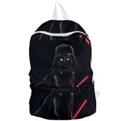 Darth Vader Cat Foldable Lightweight Backpack by Valentinaart