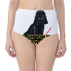 Darth Vader Cat High Waist Bikini Bottoms