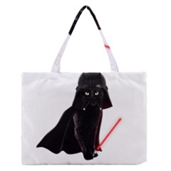 Darth Vader Cat Zipper Medium Tote Bag by Valentinaart