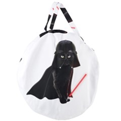Darth Vader Cat Giant Round Zipper Tote