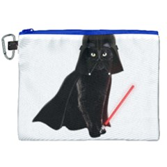 Darth Vader Cat Canvas Cosmetic Bag (xxl) by Valentinaart