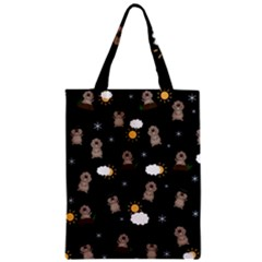 Groundhog Day Pattern Zipper Classic Tote Bag by Valentinaart