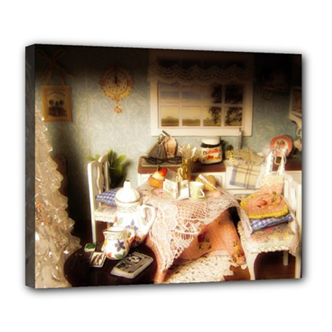 Dollhouse Christmas Deluxe Canvas 24  X 20