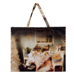 Dollhouse Christmas Zipper Large Tote Bag by snowwhitegirl