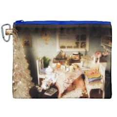 Dollhouse Christmas Canvas Cosmetic Bag (xxl) by snowwhitegirl