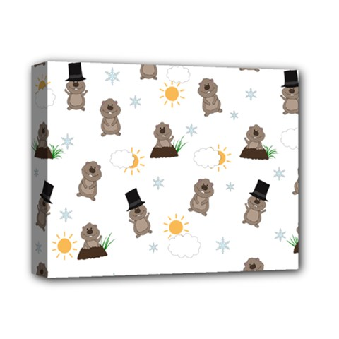 Groundhog Day Pattern Deluxe Canvas 14  X 11  by Valentinaart