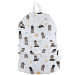 Groundhog Day Pattern Foldable Lightweight Backpack by Valentinaart