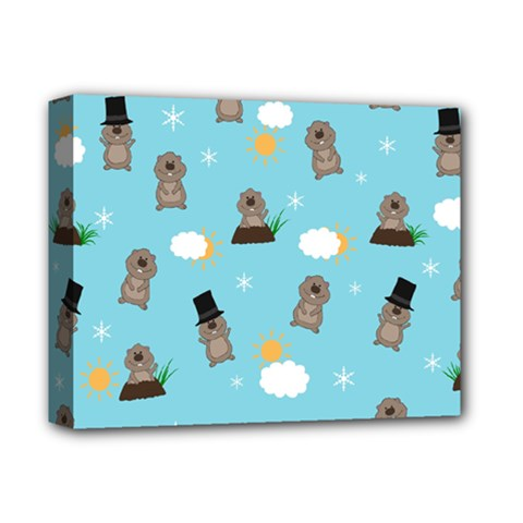 Groundhog Day Pattern Deluxe Canvas 14  X 11