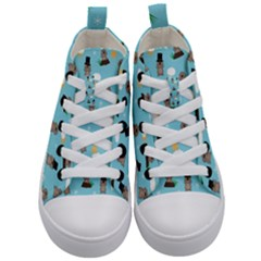 Groundhog Day Pattern Kid s Mid-top Canvas Sneakers
