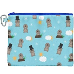 Groundhog Day Pattern Canvas Cosmetic Bag (xxxl) by Valentinaart