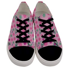 Green Dress Pink Men s Low Top Canvas Sneakers
