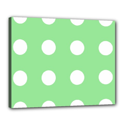 Lime Dot Canvas 20  X 16  by snowwhitegirl
