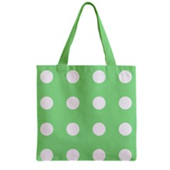 Lime Dot Grocery Tote Bag