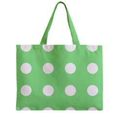 Lime Dot Mini Tote Bag
