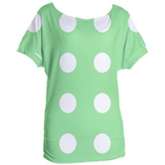 Lime Dot Women s Oversized Tee by snowwhitegirl