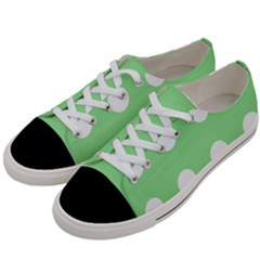 Lime Dot Women s Low Top Canvas Sneakers by snowwhitegirl