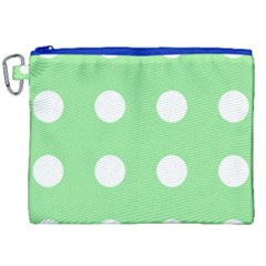 Lime Dot Canvas Cosmetic Bag (xxl) by snowwhitegirl