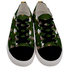 Groundhog Day Pattern Men s Low Top Canvas Sneakers