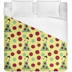 Green Dress Yellow Duvet Cover (king Size) by snowwhitegirl