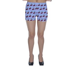 Blue Cherries Skinny Shorts