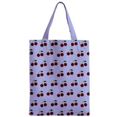 Blue Cherries Zipper Classic Tote Bag
