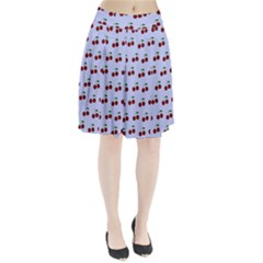 Blue Cherries Pleated Skirt