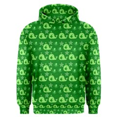 Green Sea Whales Men s Overhead Hoodie