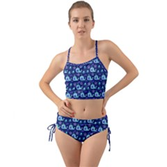 Blue Sea Whales Mini Tank Bikini Set by snowwhitegirl