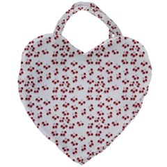 Red Cherries Giant Heart Shaped Tote by snowwhitegirl