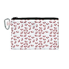 Red Cherries Canvas Cosmetic Bag (medium) by snowwhitegirl