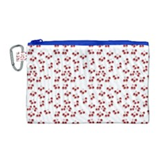 Red Cherries Canvas Cosmetic Bag (large)