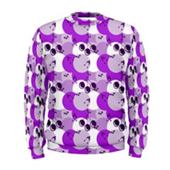 Purple Cherry Dots Men s Sweatshirt