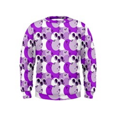 Purple Cherry Dots Kids  Sweatshirt