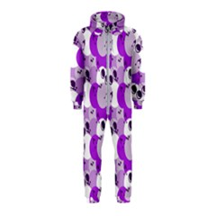 Purple Cherry Dots Hooded Jumpsuit (kids)
