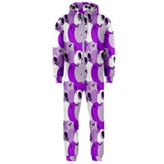 Purple Cherry Dots Hooded Jumpsuit (men)
