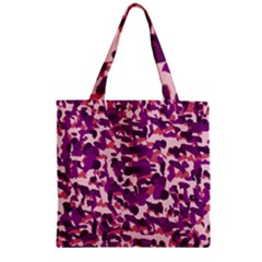 Pink Camo Zipper Grocery Tote Bag by snowwhitegirl