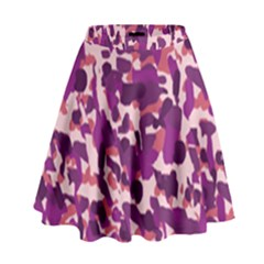 Pink Camo High Waist Skirt by snowwhitegirl