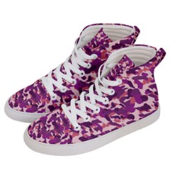 Pink Camo Women s Hi Top Skate Sneakers by snowwhitegirl