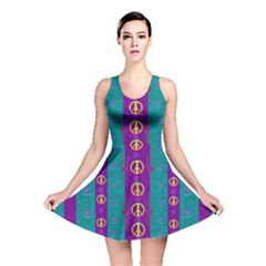Peace Be With Us This Wonderful Year In True Love Reversible Skater Dress