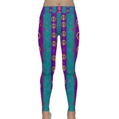 Peace Be With Us This Wonderful Year In True Love Classic Yoga Leggings
