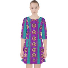 Peace Be With Us This Wonderful Year In True Love Pocket Dress