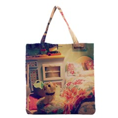 Cream Dollhouse Grocery Tote Bag