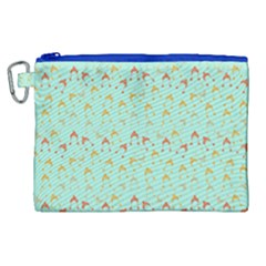 Blue Orange Hats Canvas Cosmetic Bag (xl) by snowwhitegirl