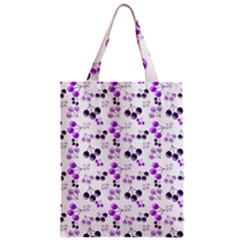 Purple Cherries Zipper Classic Tote Bag by snowwhitegirl