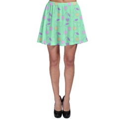 Mint Heart Cherries Skater Skirt by snowwhitegirl