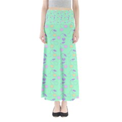 Mint Heart Cherries Full Length Maxi Skirt by snowwhitegirl