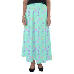 Mint Heart Cherries Flared Maxi Skirt by snowwhitegirl