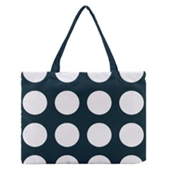 Big Dot Teal Blue Zipper Medium Tote Bag by snowwhitegirl