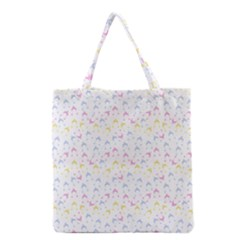 Pastel Hats Grocery Tote Bag